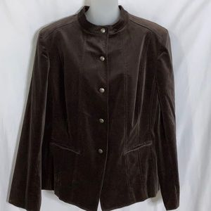 Ak Anne Klein Velvet Jacket NEW